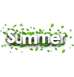 Summer paper banner vector