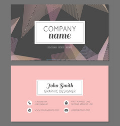 Abstract business card design vector