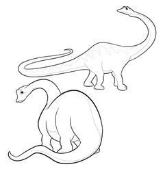 Apatosaurus lineart vector