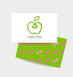Apple logo identity vector