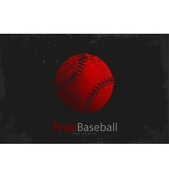Baseball logo baseball ball design grunge logo vector