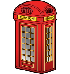 British Phone Booth vector image vector image