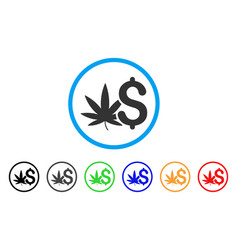cannabis business rounded icon vector image vector image