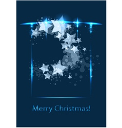 Christmas card congratulatory template vector