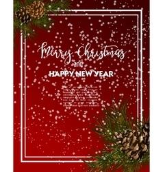 Christmas greeting-card with fir-tree vector