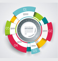 circle segments infographic design use for vector image