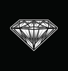 Diamond black vector