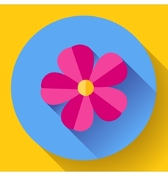 Frangipani flower icon nature symbol - vector