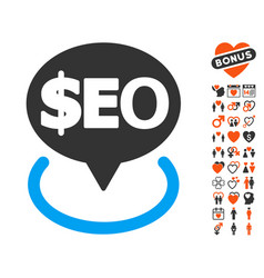 geotargeting seo icon with lovely bonus vector image