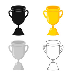 Goblet icon cartoon single education icon from vector
