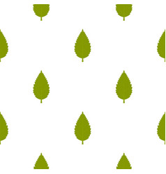 green hornbeam leaf pattern seamless vector image vector image