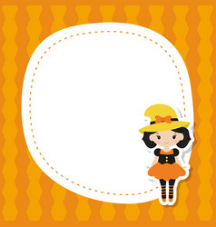 greeting card with cute girl greeting card with vector image vector image