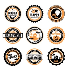 Halloween themed badges vector