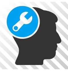Head Wrench Repair Icon vector image vector image