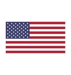 Image American flag on a white background vector image vector image