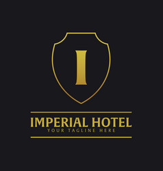 Imperial hotel logo and emblem logo vector