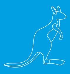 Kangaroo icon outline style vector