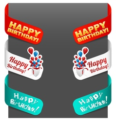 Left and right side signs - happy birthday vector