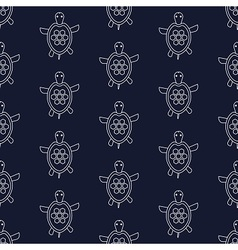 Nautical pattern with turtles vector image vector image