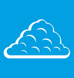 One cloud icon white vector