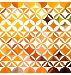 orange ethnic floral pattern vector image
