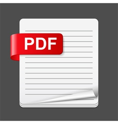 Pdf file icon vector