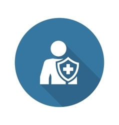Personal Insurance Icon Flat Design vector image vector image