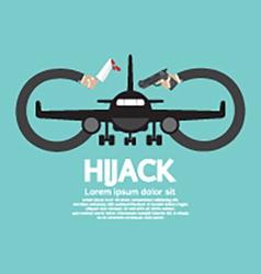 Plane hijack concept abstract design vector