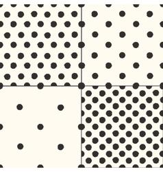 Polka dot seamless patterns set vector