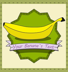 Retro Banana vector image