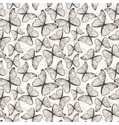 Seamless pattern with hand drawn outline vector image vector image