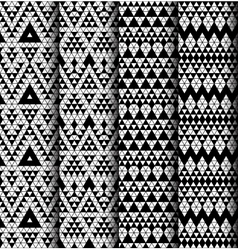 Set of four patterns vector image vector image