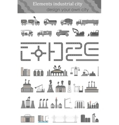 Set of maps for the industrial city vector image
