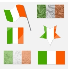 Set with Flags of Ireland vector image vector image