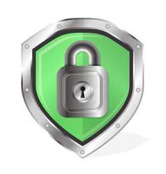 Shield with lock vector
