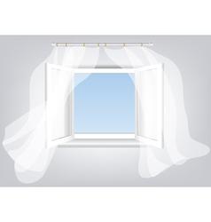 sky in window vector image