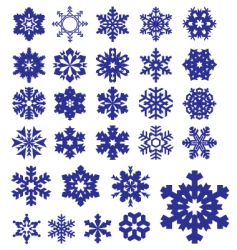 Snowflakes silhouettes collection vector