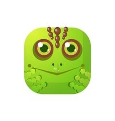 Toad square icon vector