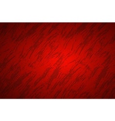Red abstract background with dark streaks vector image