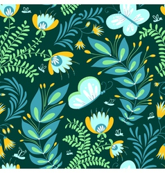 pattern with butterfly vector image