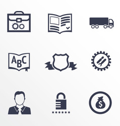 Icons of different companies with their specializa vector