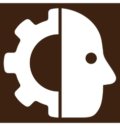 Cyborg icon from business bicolor set vector