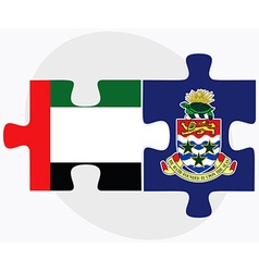 United arab emirates and cayman islands vector