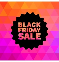 Black friday sale on geometric bright background vector