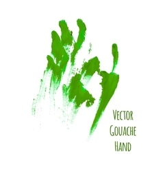 Green greased hand imprint vector