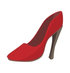 Ladies red shoe icon cartoon style vector
