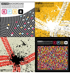 Set of four abstract background vector image