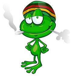 Jamaican frog cartoon vector