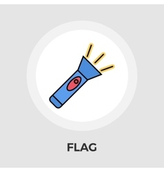Flashlight flat icon vector