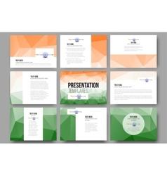 Set of 9 templates for presentation slides Happy vector image